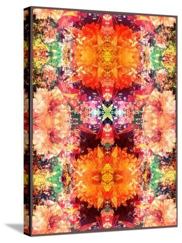 A Symmetric Colorful Ornament from Flowers, Photographic Layer Work-Alaya Gadeh-Stretched Canvas Print