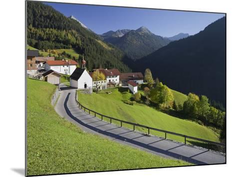 Austria, Tyrol, Au§erfern (Mountain Range), Mitteregg, Street, View of a Place, Church-Rainer Mirau-Mounted Photographic Print