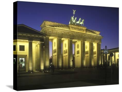 Germany, Berlin, Mitte, Pariser Platz, the Brandenburg Gate, Early Classicism, Dusk-Andreas Keil-Stretched Canvas Print