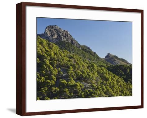 Mountain Coll De Les Fontanelles, Cap De Formentor, Majorca, Spain-Rainer Mirau-Framed Art Print