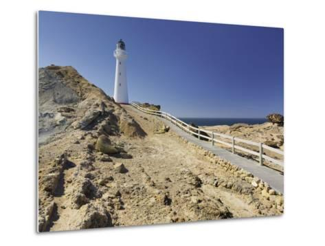 Castle Point Lighthouse, Wellington, North Island, New Zealand-Rainer Mirau-Metal Print