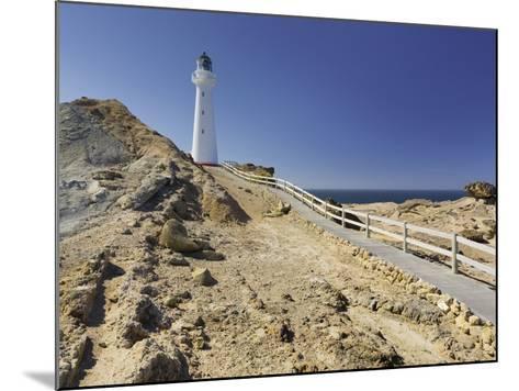Castle Point Lighthouse, Wellington, North Island, New Zealand-Rainer Mirau-Mounted Photographic Print