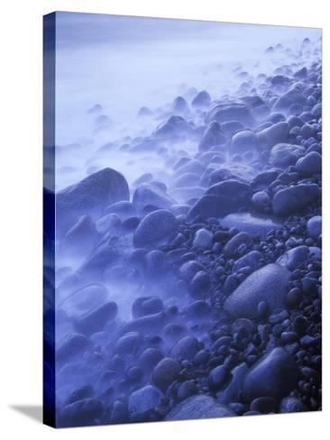 Norway, Telemark, the North Sea, Skagerag, Mšlen, Beach with Glacial Pebbles after Sunset-Andreas Keil-Stretched Canvas Print