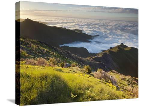 View of Terxeira to Canario, Sea of Clouds, Madeira, Portugal-Rainer Mirau-Stretched Canvas Print