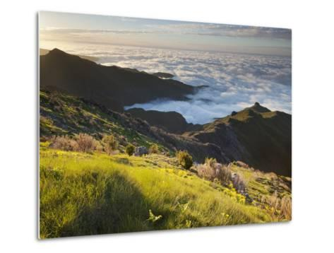 View of Terxeira to Canario, Sea of Clouds, Madeira, Portugal-Rainer Mirau-Metal Print