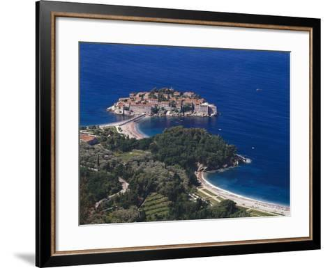 Montenegro, Milocer, Hotel, Sveti Stefan, Overview-Thonig-Framed Art Print