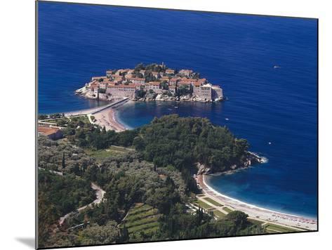 Montenegro, Milocer, Hotel, Sveti Stefan, Overview-Thonig-Mounted Photographic Print
