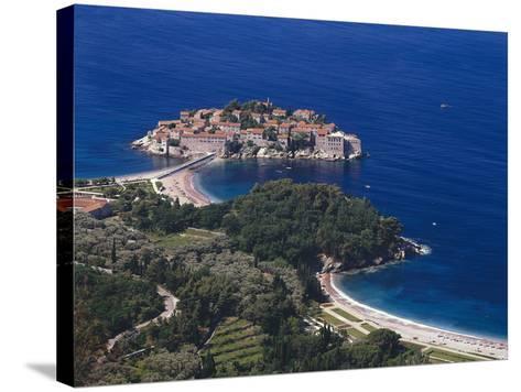 Montenegro, Milocer, Hotel, Sveti Stefan, Overview-Thonig-Stretched Canvas Print