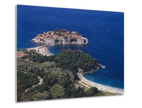 Montenegro, Milocer, Hotel, Sveti Stefan, Overview-Thonig-Metal Print