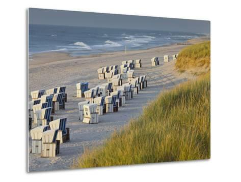 Beach Chairs on the Beach Close Kampen (Municipality), Sylt (Island), Schleswig-Holstein, Germany-Rainer Mirau-Metal Print