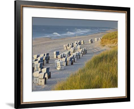 Beach Chairs on the Beach Close Kampen (Municipality), Sylt (Island), Schleswig-Holstein, Germany-Rainer Mirau-Framed Art Print