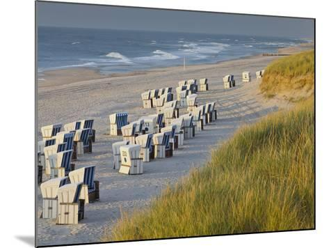 Beach Chairs on the Beach Close Kampen (Municipality), Sylt (Island), Schleswig-Holstein, Germany-Rainer Mirau-Mounted Photographic Print