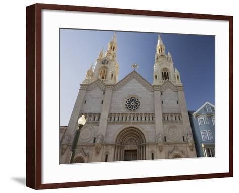 Saints Peter and Paul Church, Washington Square, Telegraph Hill, San Francisco, California, Usa-Rainer Mirau-Framed Art Print