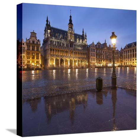 Belgium, Brussels, Grand-Place, Grote Markt, Evening-Rainer Mirau-Stretched Canvas Print