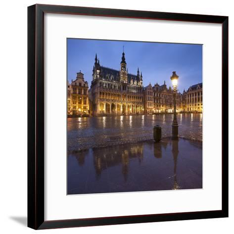 Belgium, Brussels, Grand-Place, Grote Markt, Evening-Rainer Mirau-Framed Art Print