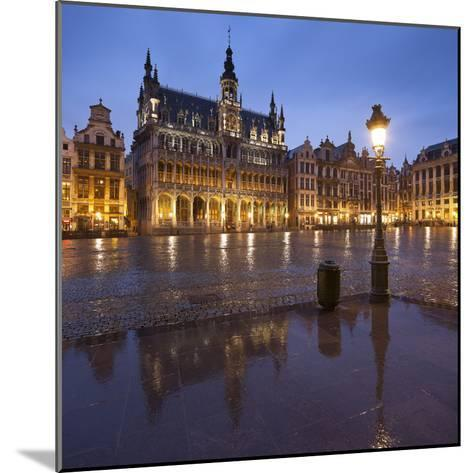 Belgium, Brussels, Grand-Place, Grote Markt, Evening-Rainer Mirau-Mounted Photographic Print