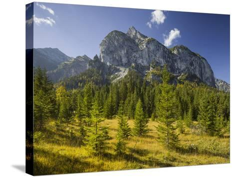 Rosskopfspitze, Risstal, Karwendel, Tyrol, Austria-Rainer Mirau-Stretched Canvas Print