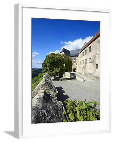 Germany, Saxony-Anhalt, Burgenlandkreis, Freyburg (Unstrut), Castle Neuenburg Above the Unstruttal-Andreas Vitting-Framed Art Print