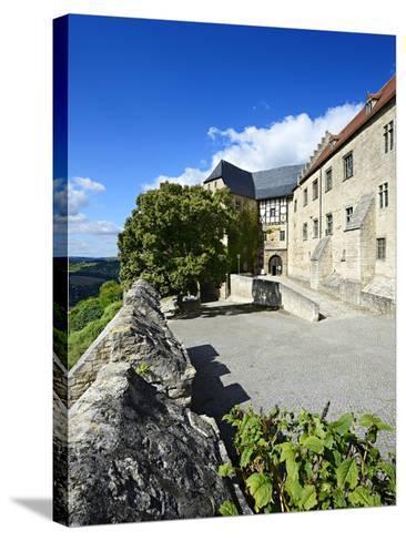 Germany, Saxony-Anhalt, Burgenlandkreis, Freyburg (Unstrut), Castle Neuenburg Above the Unstruttal-Andreas Vitting-Stretched Canvas Print