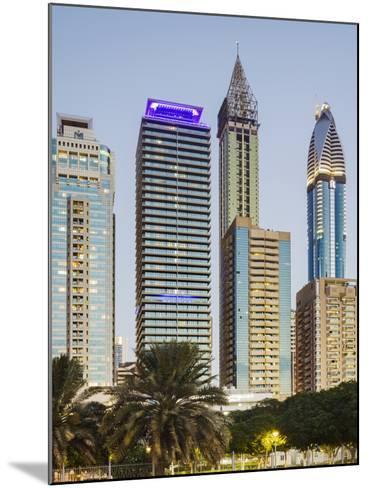 Skyscrapers at Sheikh Zayed Road, Dubai, United Arab Emirates-Rainer Mirau-Mounted Photographic Print