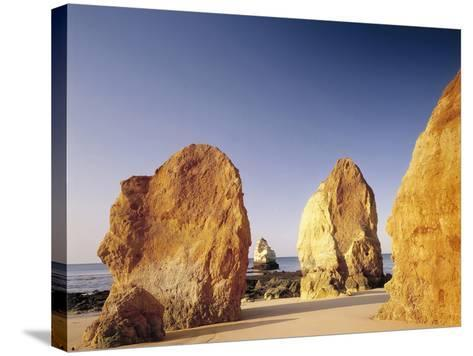 Portugal, Algarve, Praia Da Rocha, Beach, Rock Formations, Sea-Thonig-Stretched Canvas Print