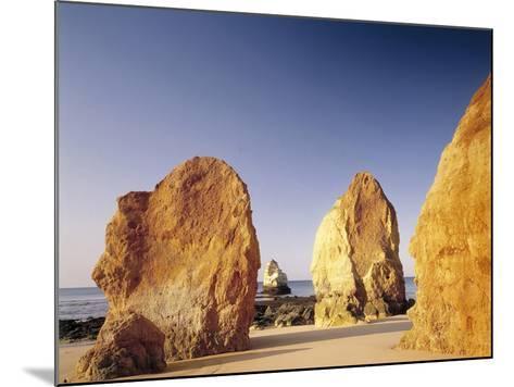 Portugal, Algarve, Praia Da Rocha, Beach, Rock Formations, Sea-Thonig-Mounted Photographic Print