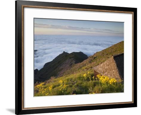 Resting Place with Terxeira, Sea of Clouds, Madeira, Portugal-Rainer Mirau-Framed Art Print