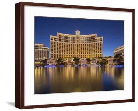 Bellagio Hotel, Lake Bellagio, Strip, South Las Vegas Boulevard, Las Vegas, Nevada, Usa-Rainer Mirau-Framed Art Print