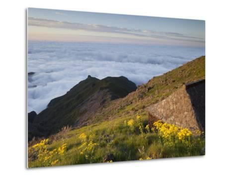 Resting Place with Terxeira, Sea of Clouds, Madeira, Portugal-Rainer Mirau-Metal Print
