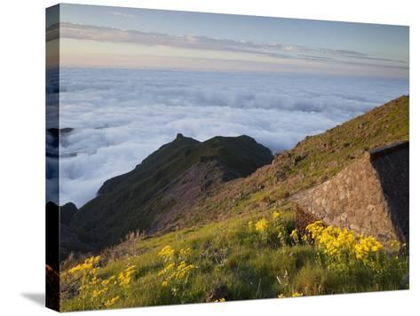 Resting Place with Terxeira, Sea of Clouds, Madeira, Portugal-Rainer Mirau-Stretched Canvas Print