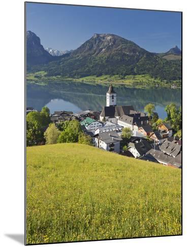 Austria, Upper Austria, Saint Wolfgang, Lake Wolfgangsee, Steeple-Rainer Mirau-Mounted Photographic Print