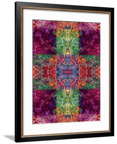 Photographic Layer Work Ornament from Trees Multicolor-Alaya Gadeh-Framed Art Print