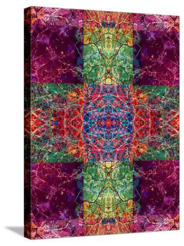 Photographic Layer Work Ornament from Trees Multicolor-Alaya Gadeh-Stretched Canvas Print