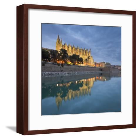 Spain, Majorca, Catedral De Palma De Majorca, Water-Rainer Mirau-Framed Art Print