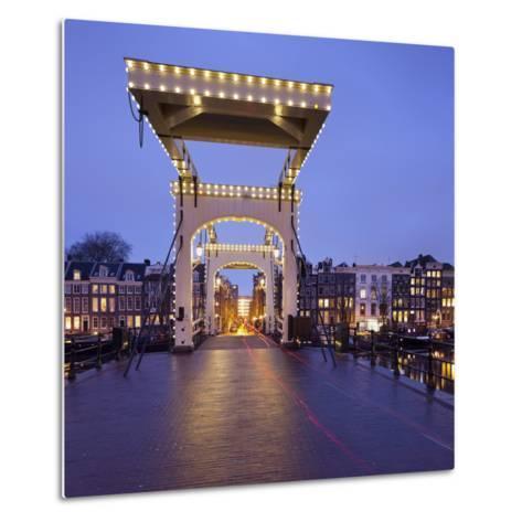 Magere Brug (Bridge), Amstel, Amsterdam, the Netherlands-Rainer Mirau-Metal Print