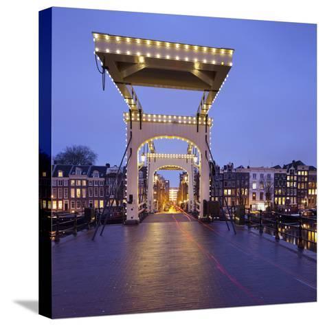 Magere Brug (Bridge), Amstel, Amsterdam, the Netherlands-Rainer Mirau-Stretched Canvas Print