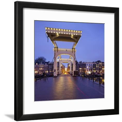 Magere Brug (Bridge), Amstel, Amsterdam, the Netherlands-Rainer Mirau-Framed Art Print