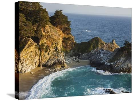 Mcway Falls, Mcway Cove, Julia Pfeiffer Burns State Park, California, Usa-Rainer Mirau-Stretched Canvas Print