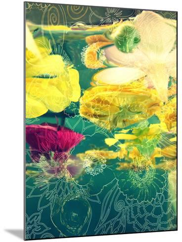 Composing, Yellow and Crimson Blossoms in Green Water, Floral Ornaments-Alaya Gadeh-Mounted Photographic Print