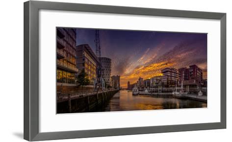 Germany, Hamburg, Hafencity, 'Magellan-Terrassen', 'Sandtorkai', 'Sandtorhafen' (Harbour-Ingo Boelter-Framed Art Print