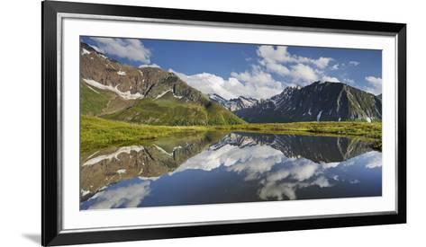 View from Oberberg, Blauer Kofel, Rotes Beil, Mountain Lake, Pfitscher Tal (Valley-Rainer Mirau-Framed Art Print