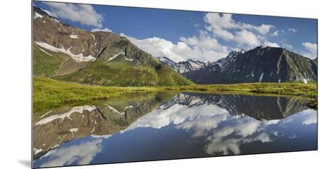 View from Oberberg, Blauer Kofel, Rotes Beil, Mountain Lake, Pfitscher Tal (Valley-Rainer Mirau-Mounted Photographic Print
