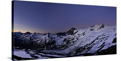 Panoramic View from the 'Neuen Prager HŸtte' (Alpine Hut) at Dawn, Venedigergruppe-Stefan Sassenrath-Stretched Canvas Print