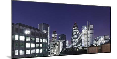 Panorama, City of London, Swiss-Re-Tower, 30 St. Mary Axe, England, Great Britain-Axel Schmies-Mounted Photographic Print