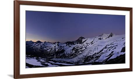 Panoramic View from the 'Neuen Prager HŸtte' (Alpine Hut) at Dawn, Venedigergruppe-Stefan Sassenrath-Framed Art Print