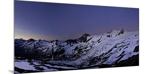 Panoramic View from the 'Neuen Prager HŸtte' (Alpine Hut) at Dawn, Venedigergruppe-Stefan Sassenrath-Mounted Photographic Print