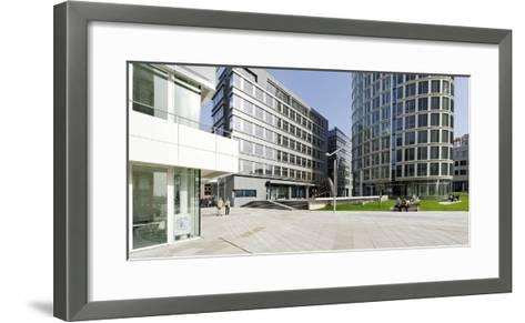 Modern Architecture, Office Buildings, International Coffee Plaza, Hafencity, Hamburg-Axel Schmies-Framed Art Print