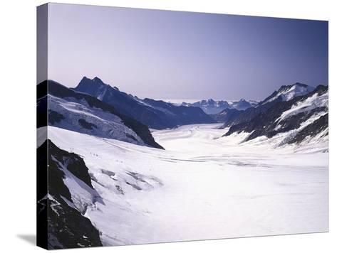 Switzerland, Valais, Mountain 'Jungfraujoch', Great Aletsch Glacier-Thonig-Stretched Canvas Print