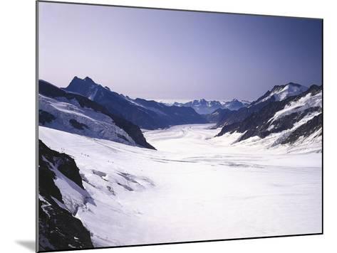 Switzerland, Valais, Mountain 'Jungfraujoch', Great Aletsch Glacier-Thonig-Mounted Photographic Print