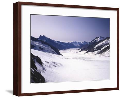 Switzerland, Valais, Mountain 'Jungfraujoch', Great Aletsch Glacier-Thonig-Framed Art Print